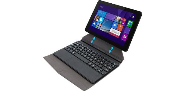 Tablet convertible con funda y teclado