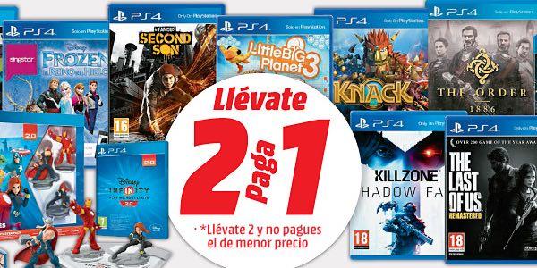 2x1 en juegos de PS4 Media Markt