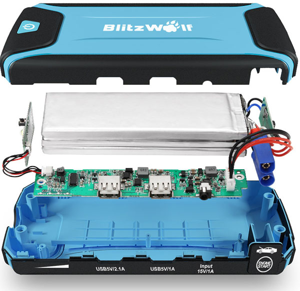 bateria recargable blitzwolf k3 interior