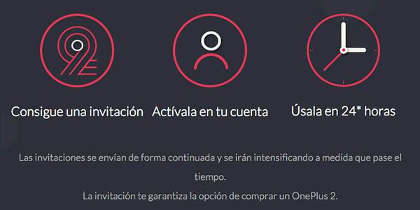 Invitaciones del OnePlus 2