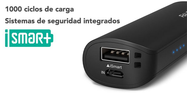 ravpower powerbank 3200mah conexiones