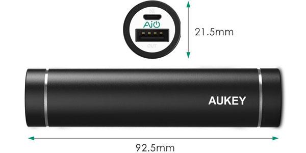 aukey bateria externa 3000mah tamano