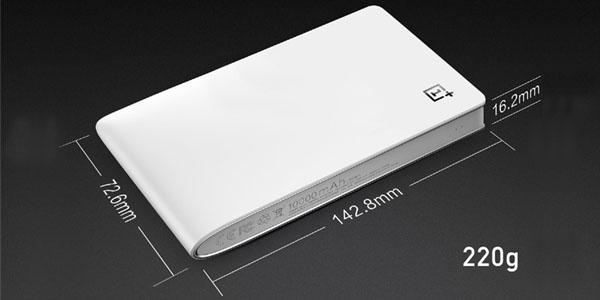 bateria portatil oneplus 10000mah medidas