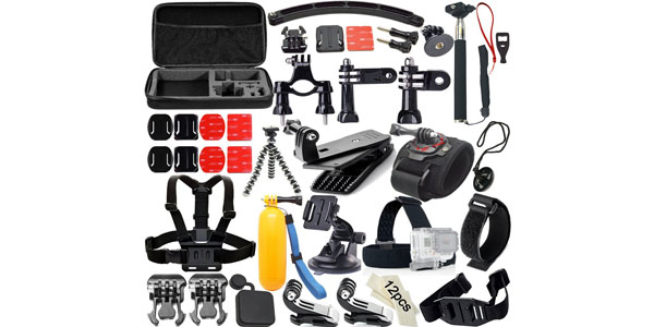 soft digits accesorios gopro 50-en-1 kit conjunto
