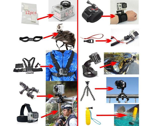 soft digits accesorios gopro 50-en-1 kit