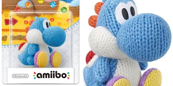 Amiibo Yoshi Woolly Azul barato