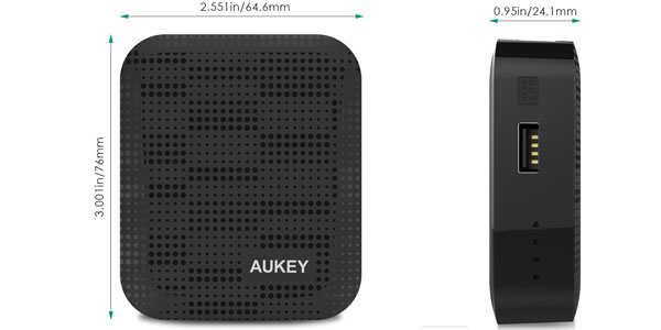 bateria externa aukey 4400mah medidas