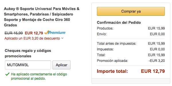 aplicar cupón descuento en Amazon España
