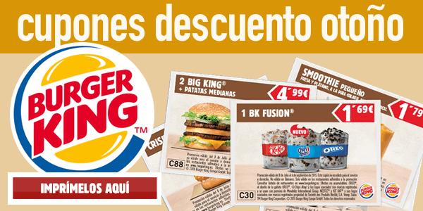 cupones descuento Burger King Otoño 2015