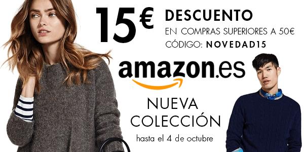 cupón descuento Amazon ropa Otoño 2015