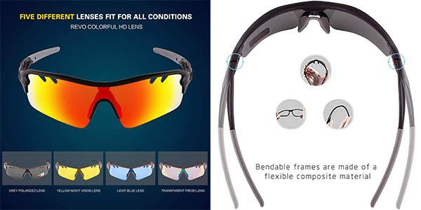 Gafas de sol deportivas polarizadas UV400 baratas
