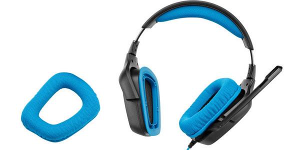 logitech g430 gaming surround Sound 7.1 auricular headset almohadilla