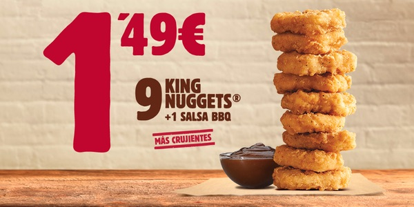 Oferta King Nuggets Burger King
