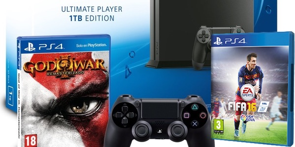 Pack PS4 1TB FIFA16 GOW3