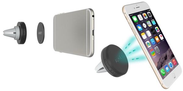 Soporte de smartphone Aukey Air magnético