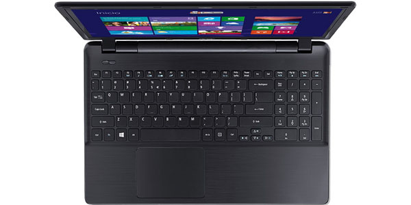 acer aspire e5 573 327z intel core i3 4005u 4gb 500gb 15.6 portatil teclado
