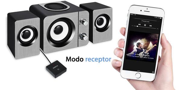 avantek transmisor receptor bluetooth portatil adaptador 2 en 1 emite