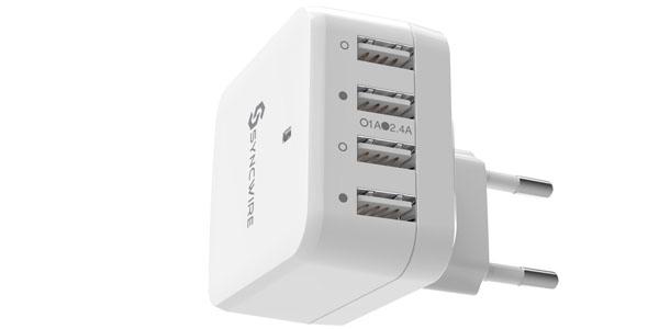 cargador usb syncwire cuatro puertos universal