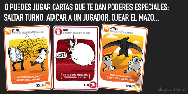 cartas especiales Gatitos Explosivos