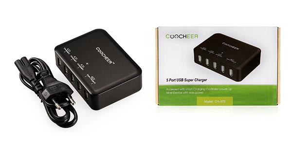 Coocheer cargador USB 5 puertos