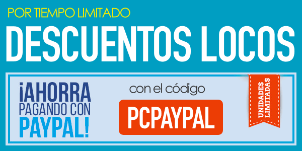 Cupón descuento PCComponentes PayPal