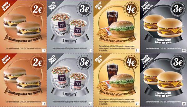 Descuentos McDonalds octubre 2015