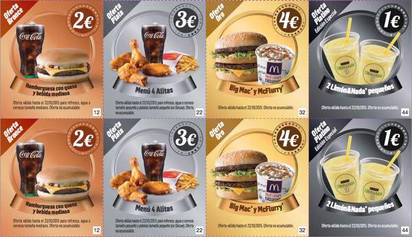 ofertas McDonalds octubre