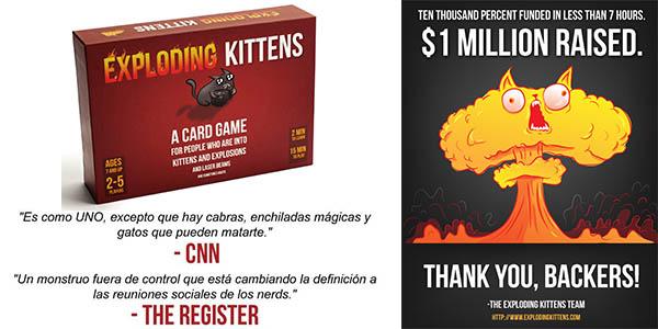 Gatitos Explosivos juego de cartas