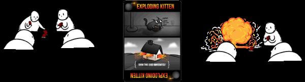Explosión Gatitos Explosivos