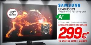 Samsung UE40H5003 al mejor precio