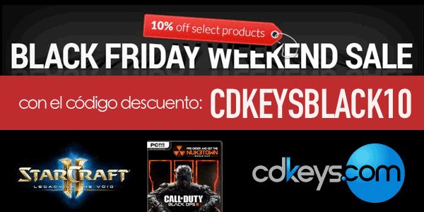 Cupón descuento CDKEYS Black Friday 2015