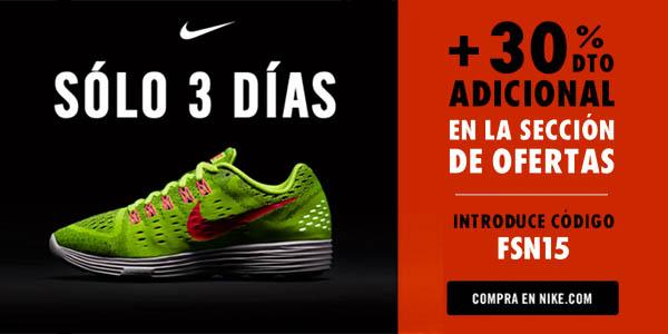 Persona estilo Calma  Cupón descuento 30% adicional en ofertas Black Friday Nike