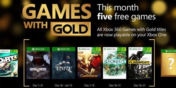 Juegos gratis con Xbox Live Gold Diciembre 2015