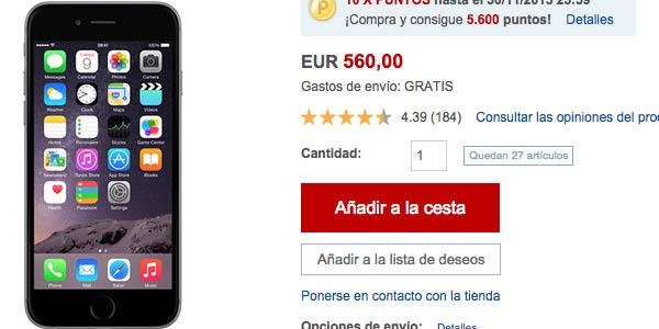 iPhone 6 en Rakuten Black Friday