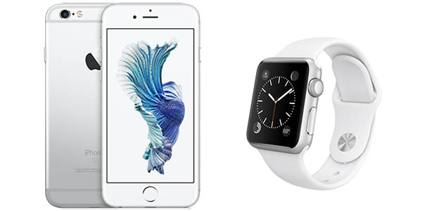 iPhone 6s Silver 16Gb + Apple Watch Sport