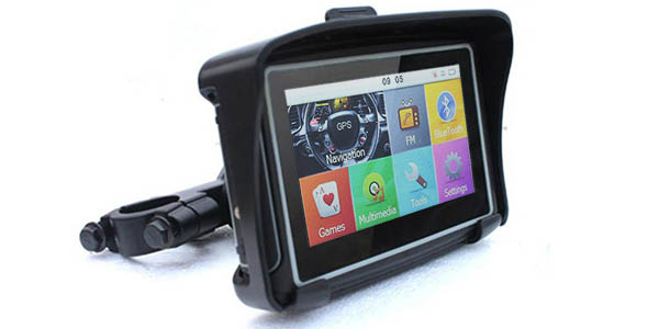 Navegador GPS impermeable para moto