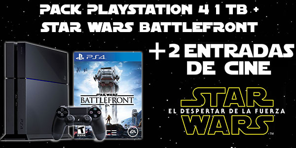 Pack Star Wars Ps4 + Battlefront + Entradas