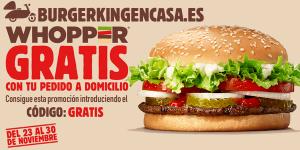 Burger King Whopper Gratis