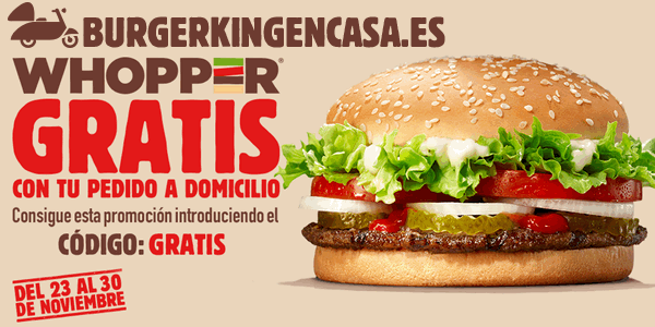 Burger King Whopper Gratis