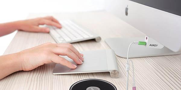 Adaptador USB audio para iMac