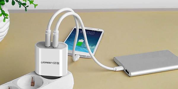 Cargador 2 puertos USB Fast Charge