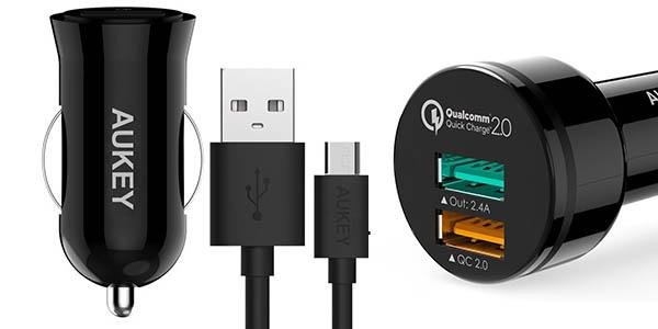 Cargadores USB para coche Aukey