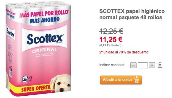 Papel Scottex barato