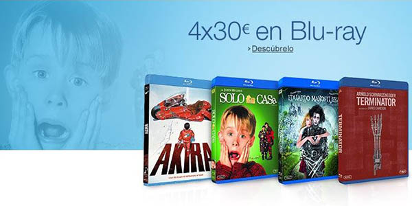 4 Blu-ray por 30€