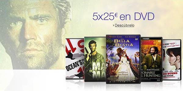 5 DVD por 25€