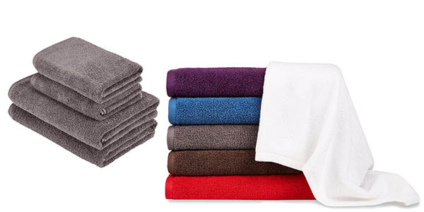 Pack toallas de baño de AmazonBasics