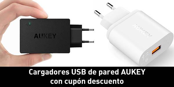 Cargadores USB de pared Aukey