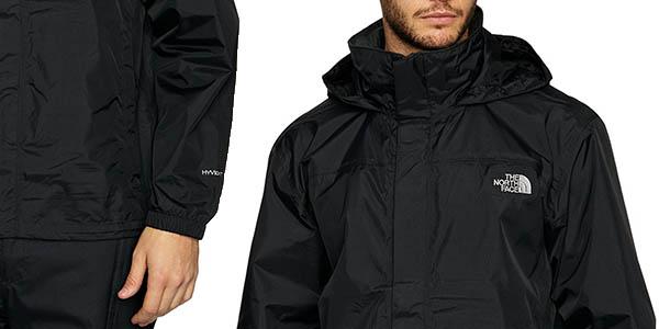 chaqueta para senderismo cortavientos The North Face Resolve en negro chollo
