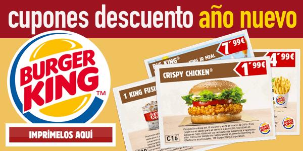 Descargar cupones Burger King enero 2016