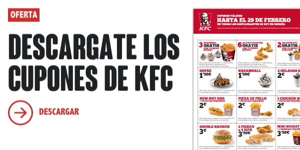 Cupones descuento KFC enero 2016